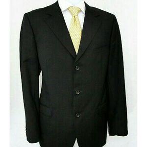 Gucci Black Herringbone suit jacket 42R mens